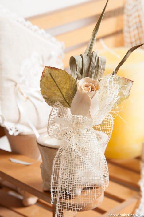 decoration florale pour sachet a dragees