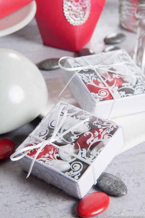 Boîte rigide blanche pour dragees