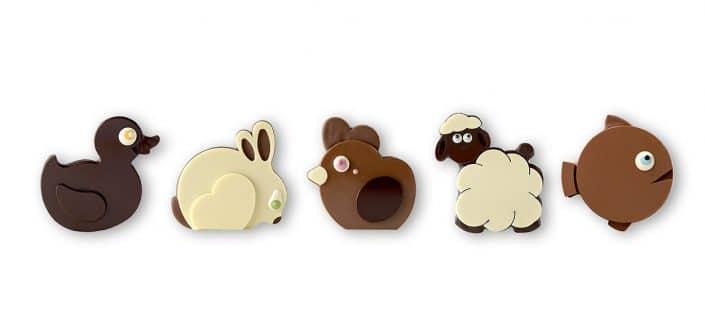 chocolats animaux pour paques